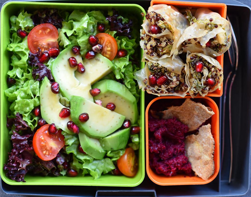 Lunchbox vegan menu Feel fit, киноа и червено цвекло