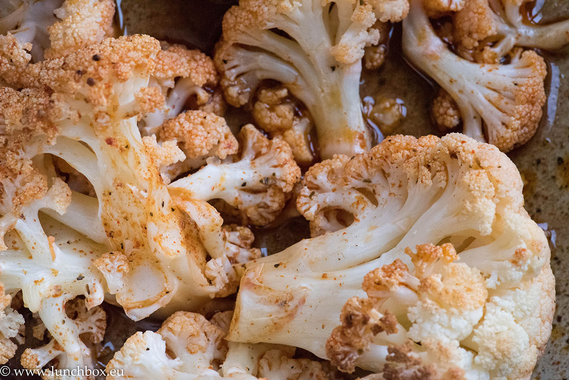 cauliflower with vegan ranch sauce