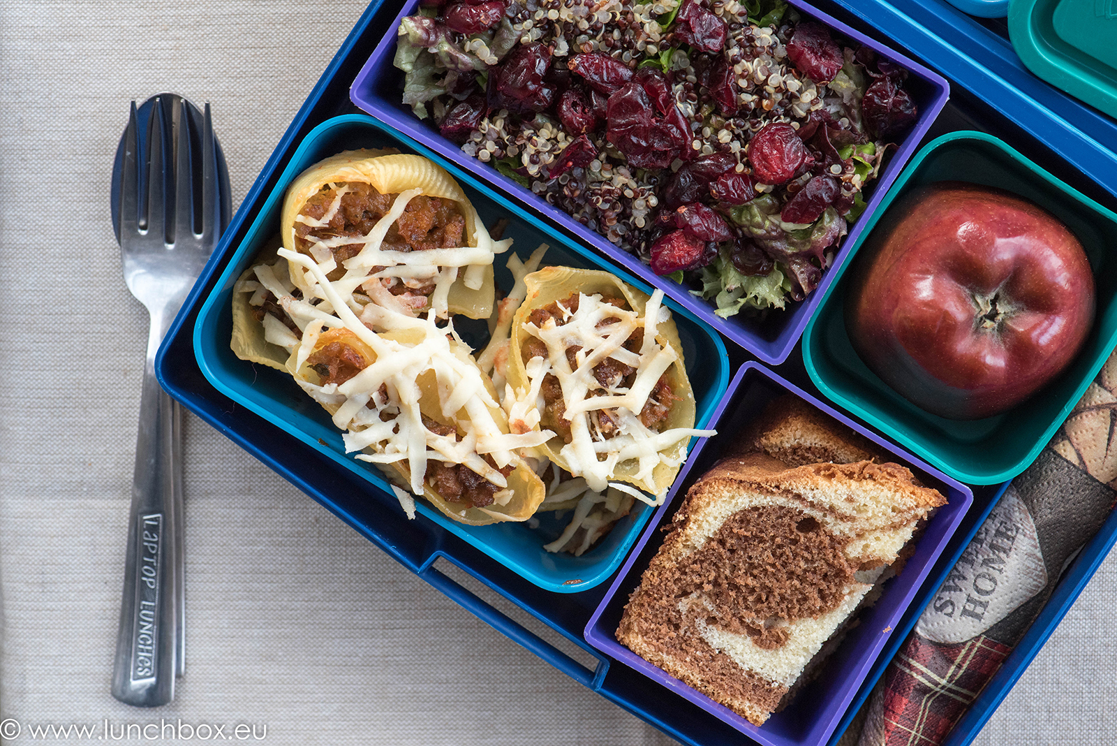 Lunchbox menu конкилиони със сос болонез