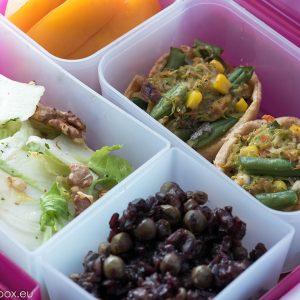 lunchbox menu Киш със зелен боб и тиквички portion perfect menu