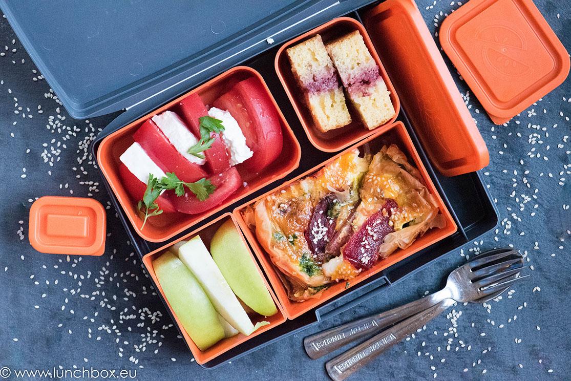Lunchbox меню: Киш с червено цвекло