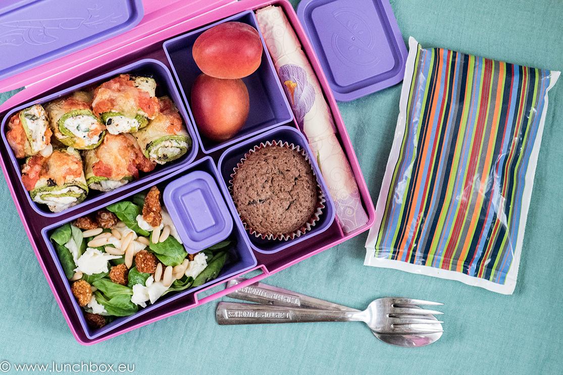 Lunchbox: Рулца от тиквички с рикота