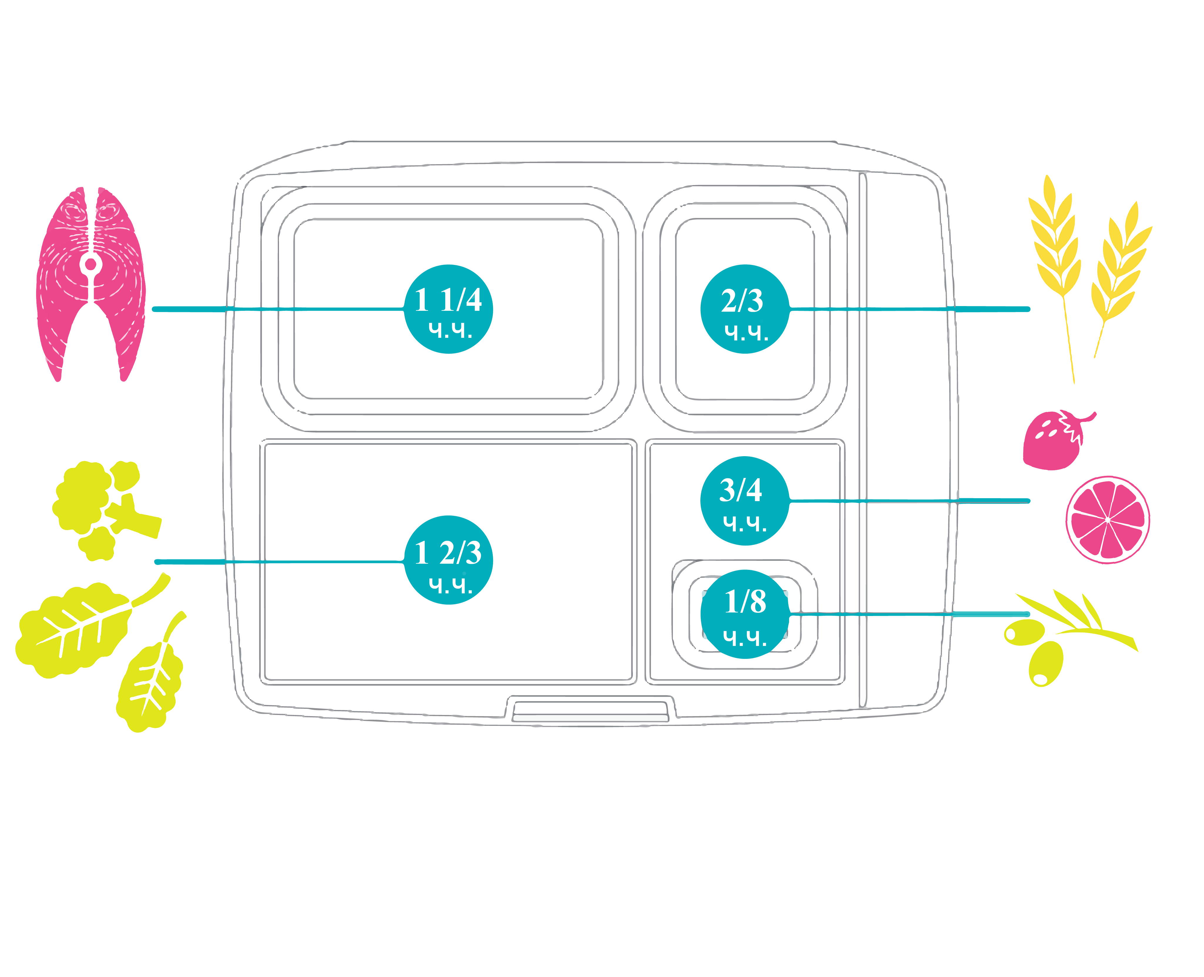 Portion Control Design for Lunchbox