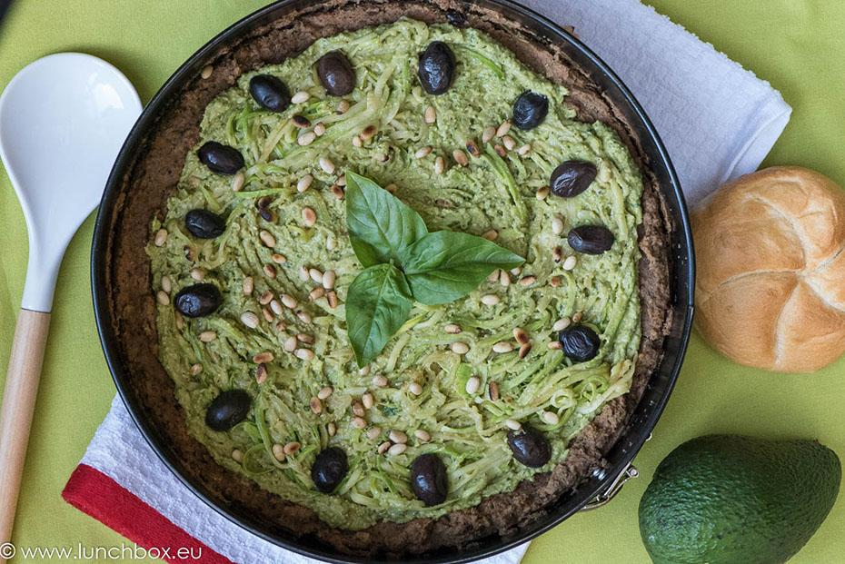 Веган тарта с авокадо, без глутен