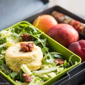 Lunchbox light menu: Печена рикота с рукола