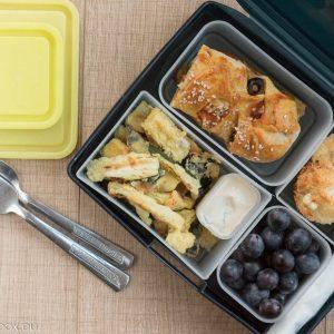 Lunchbox меню: тиквички в темпура на фурна