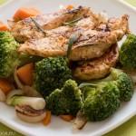 пилешки флейки с броколи и розмарин