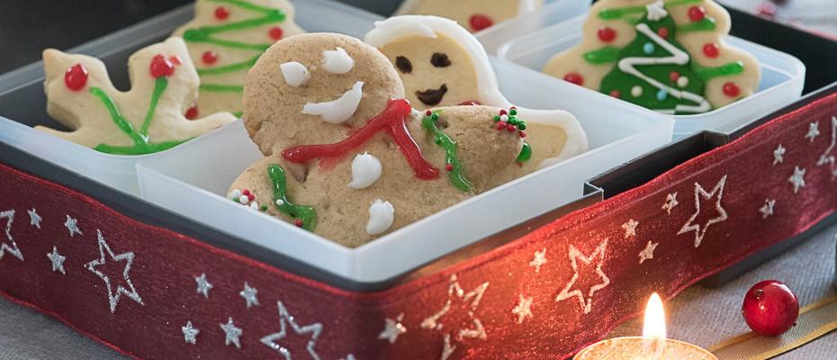 Коледни бисквитки с боб