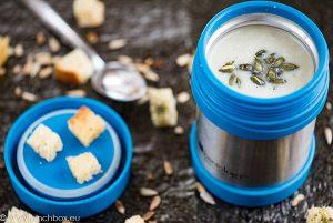 Creamy sunchoke soup with leek