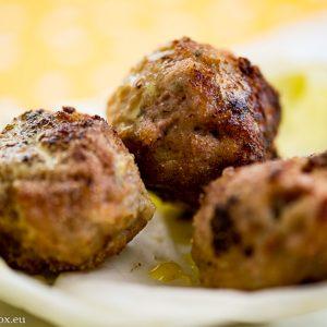 Ginger Winter Meatballs with coconut milk