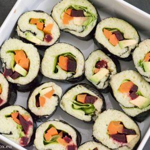 Нисковъглехидратно суши с ориз от карфиол