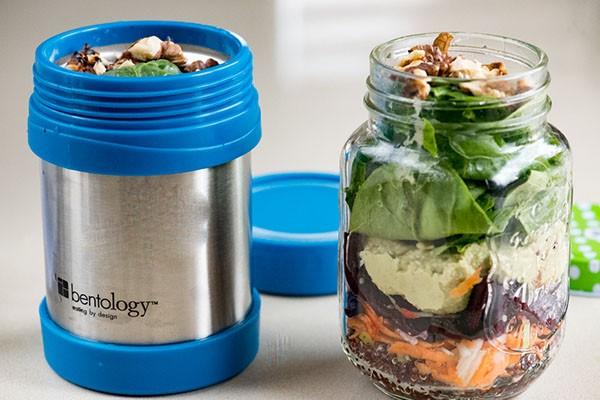 Правила за приготвяне на салати в Lunchbox Thermos Jar