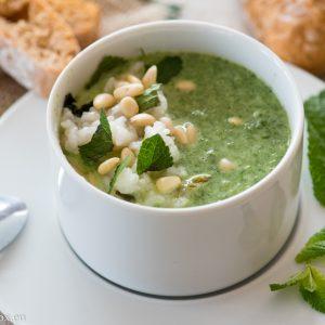 Крем супа със спанак на пара