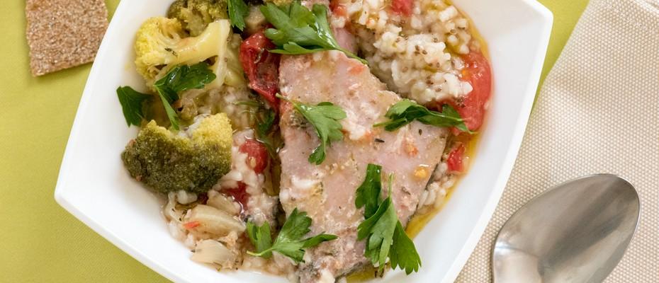 Касерола от риба тон със зеленчуци