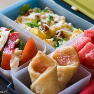 Lunchbox menu: Макарони със сирене и шунка