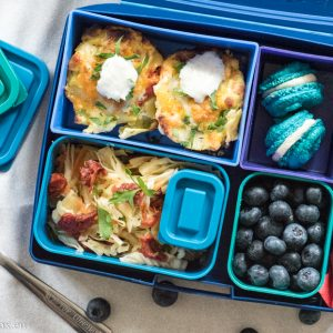 Lunchbox lasagna cups