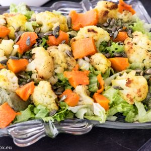 Есенна салата със сос от дюли