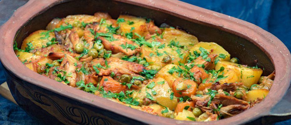 Casserole-chicken-peas