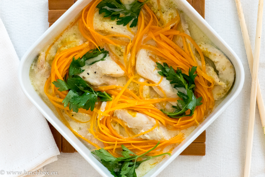 Creamy Chicken fillets on a bed of vegetables
