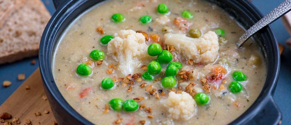 light veggie soup
