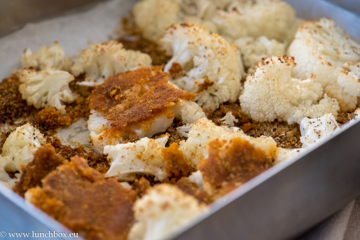Parmesan-crusted cauliflower with herbs