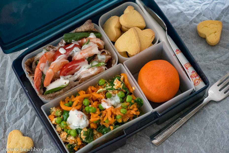 Lunchbox menu: Тортила със скариди