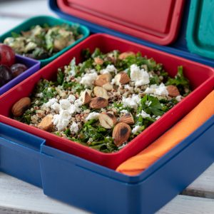Lunchbox Menu Kale and quinoa