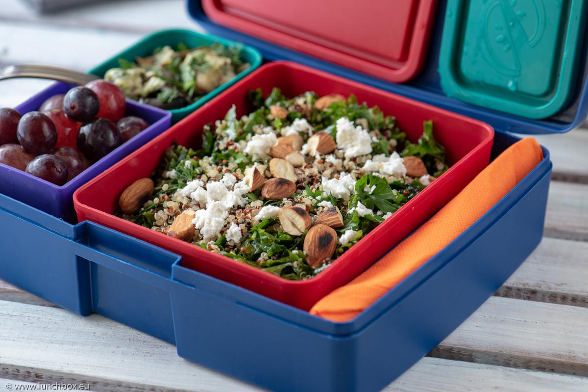 Lunchbox Menu Kale and quinoa