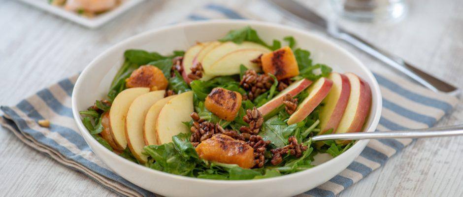 fall arugula salad with apples