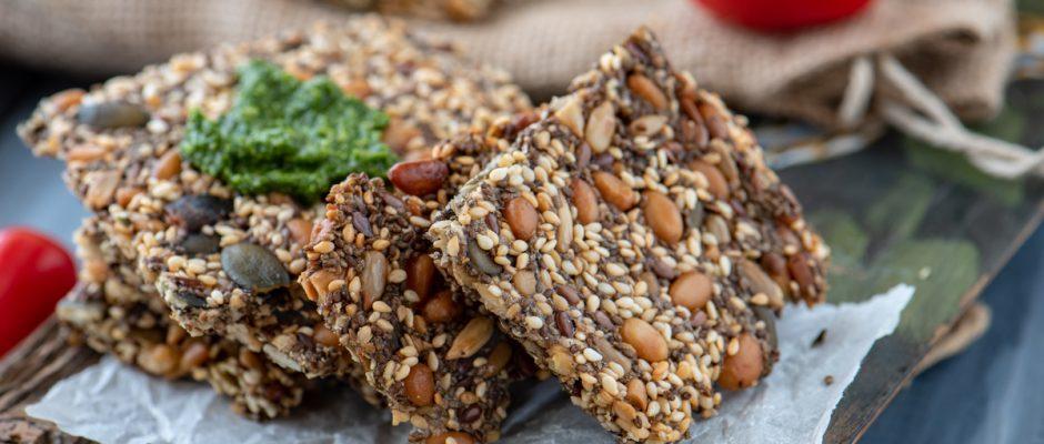 Крекери със семена и ядки