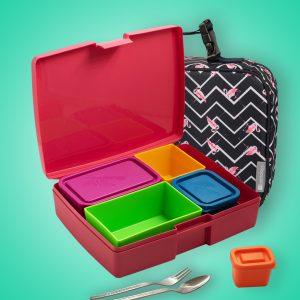 Pack Flamingo Lunchbox