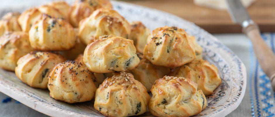 Cheese puffs (Gougères)