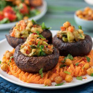 Портобело със зеленчуци-2