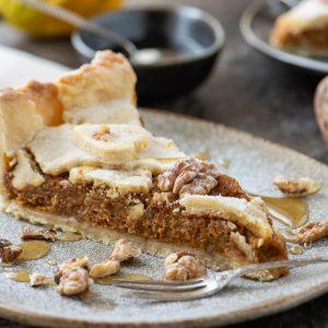 Тиквен пай с орехи и мед
