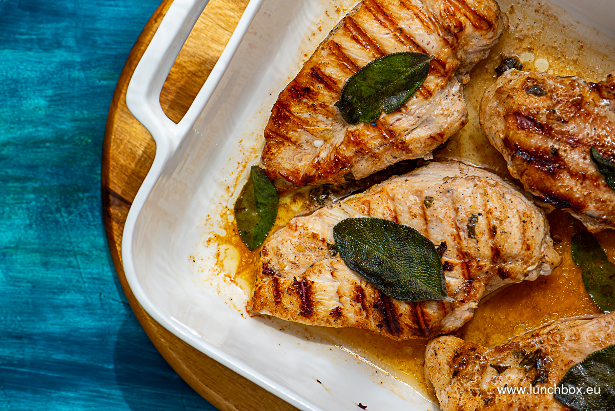 Пилешки гърди по ливански