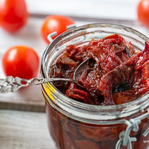 Sun-dried tomatoes marinated in oil